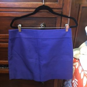 J. Crew Purple Skirt size 10